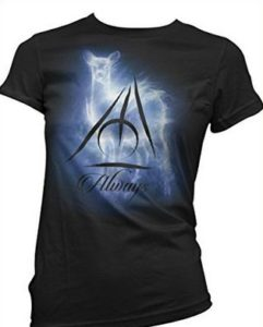 maglietta hp con patronus e scritta always