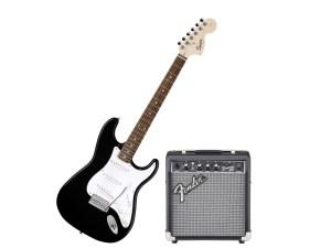 chitarra fender con amplificatore