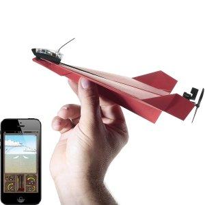 aeroplano di carta da guidare con smartphone