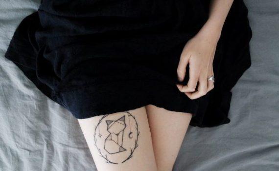 tatuaggio coscia