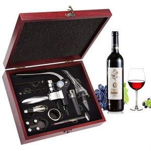 set da vino elegante con accessori degustazione