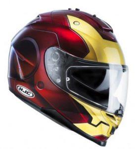 casco integrale moto colorazione iron man
