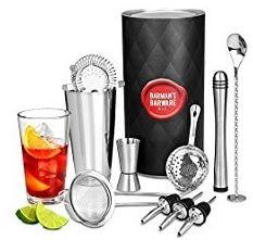 set preparazione cocktails