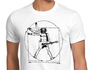 maglietta leonardo uomo vitruviano chitarrista