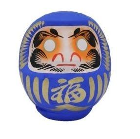 bambola porta fortuna giapponese daruma blu