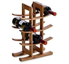 porta bottiglie elegante in legno