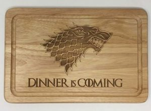 tagliere winter is coming trono di spade stark