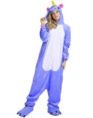 pigiama unicorni blu
