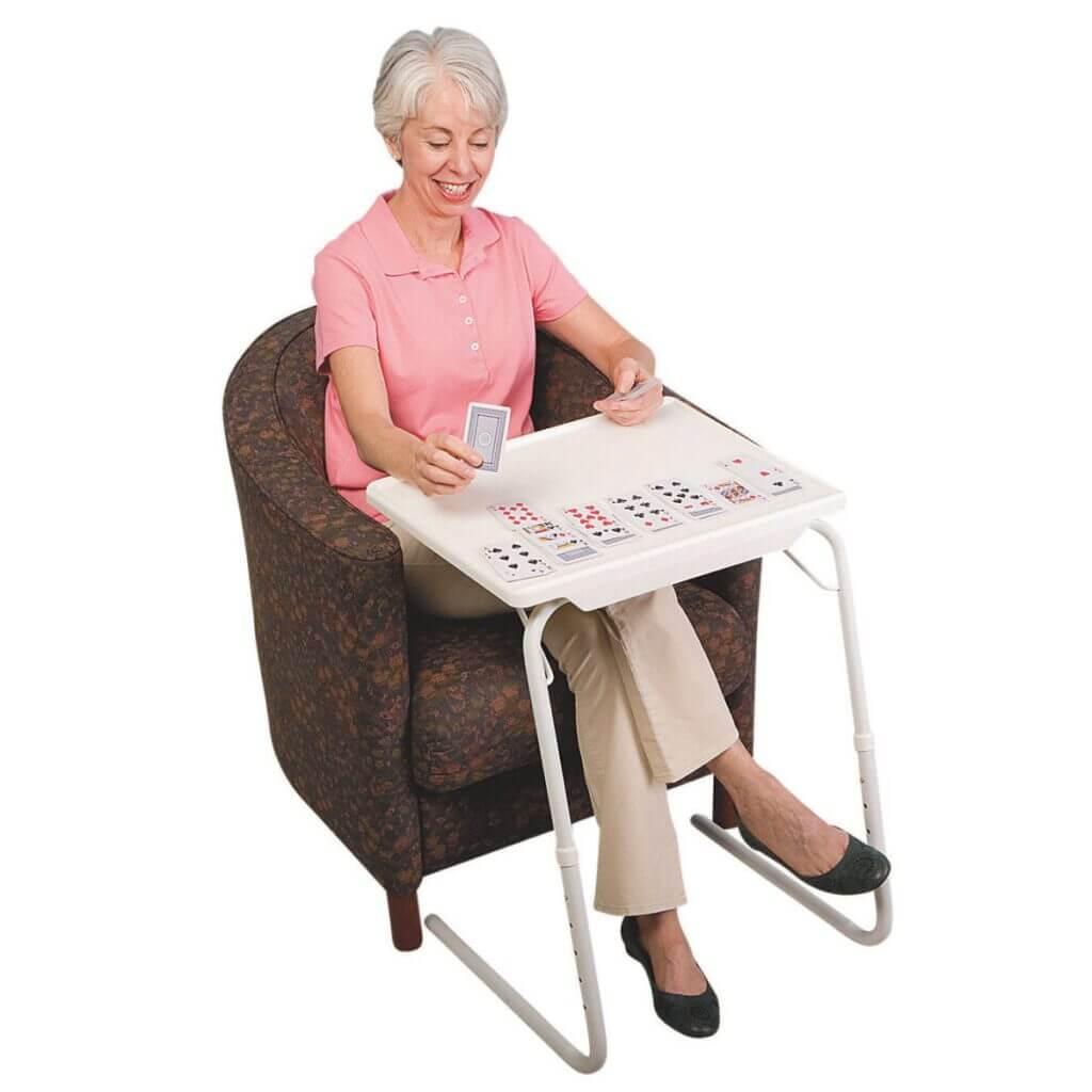 table mate mesa auxiliar plegable multifuncion