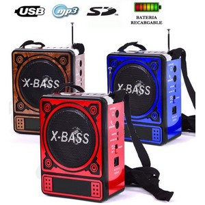 Radio FM digital MP3 USB regargable