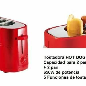 TOSTADORA PARA PERRITOS CALIENTES HOT DOG 650W CAPAC. 2 PERRITOS Y 2 PANES
