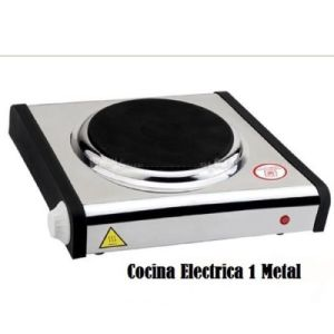 cocina electrica inox 1000w placa camping hornillo metal