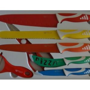 5 cuchillos pelador y tijeras