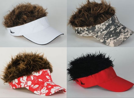 gorras con peluca Visera con Peluca