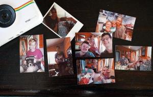 fotos con la Camara instantanea polaroid snap touch