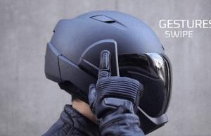 head up display casco moto crosshelmet x1