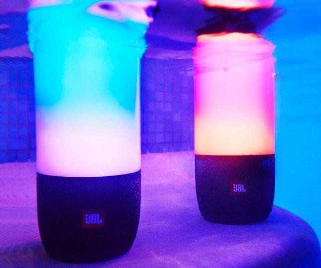 Parlantes con luces led de espectaculo impermeables jbl