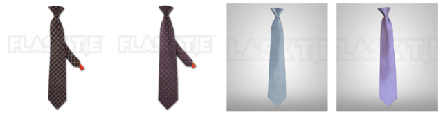 corbata para esconder licor Flasktie