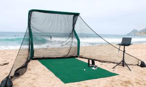 red de golf para jugar golf desde cualquier lugar red de gol portatil, regalo para golfistas
