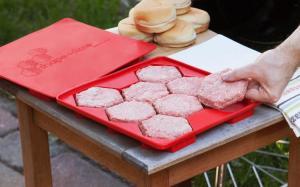 molde para hacer 8 carnes de hamburguesas master burger press