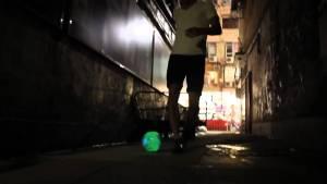 nightball tangle creation matrix, pelota con luces led para jugar de noche