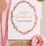 Cómo crear tarjetas con números vintage para mesas de boda