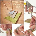Manualidades para regalar: colgantes de cuero DIY