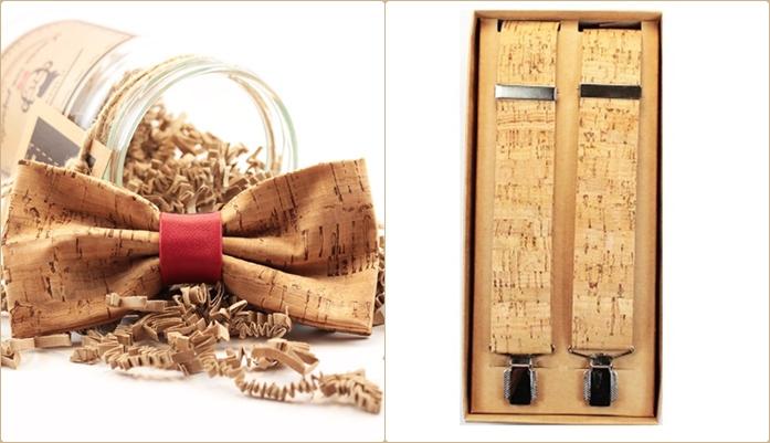 pajaritas y tirantes de corcho son un regalo original para hombre que no pasa inadvertido