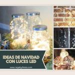 Ideas con luces navideñas para decorar interiores de forma original