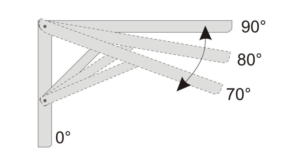 multi equerres pliantes galvanise