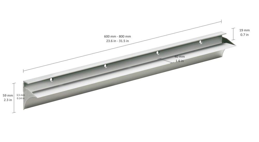 rail 19 shelf brackets