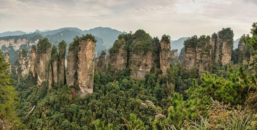 Un des sites de Zhangjiajie