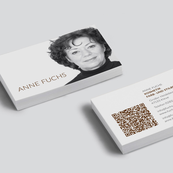 Visitenkarte Kosmetikstudio Fuchs Kleve Werbung Grafikdesign