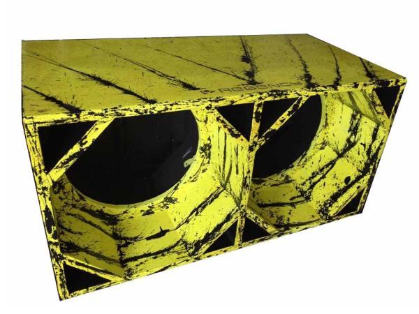 """Cod 447 - Box Canhão 2x15"""" Amarelo com Preto"""
