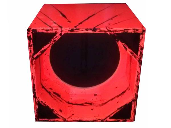 "Cod 464 - Box Canhão 1x15"" Laranja com Preto"