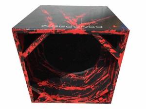 """Cod 464 - Box Canhão 1x15"""" Preto com Vermelho"""