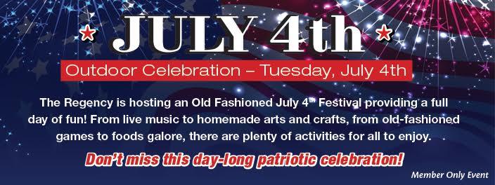 July 4th Celebrations At Regency Memory Care