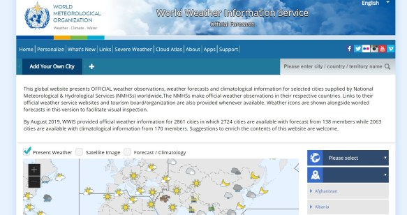 World Weather Information Service