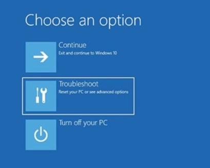 Troubleshooter Windows 10