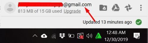 Account Google Drive on Windows 10