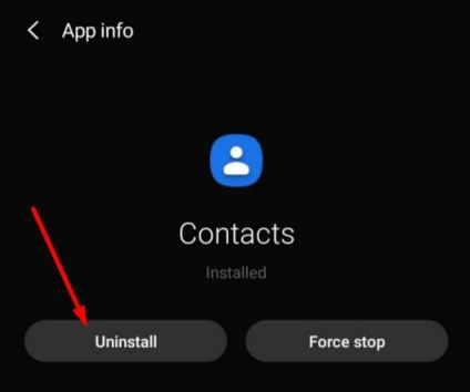 Uninstall And Reinstall Google Contacts