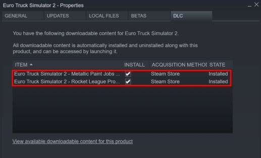 Check DLC Installed in Steam Library