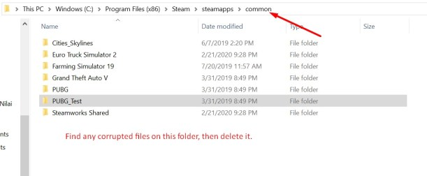 Delete Corrupted Files