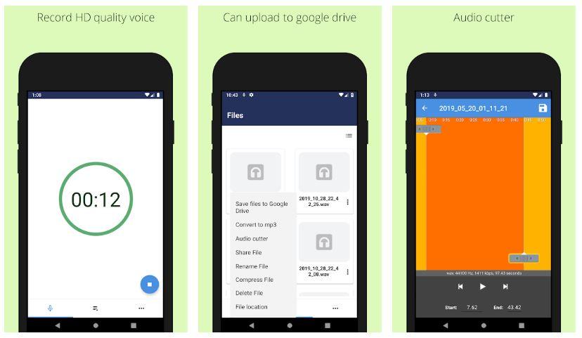Easy Voice Recorder – Background Voice Recorder