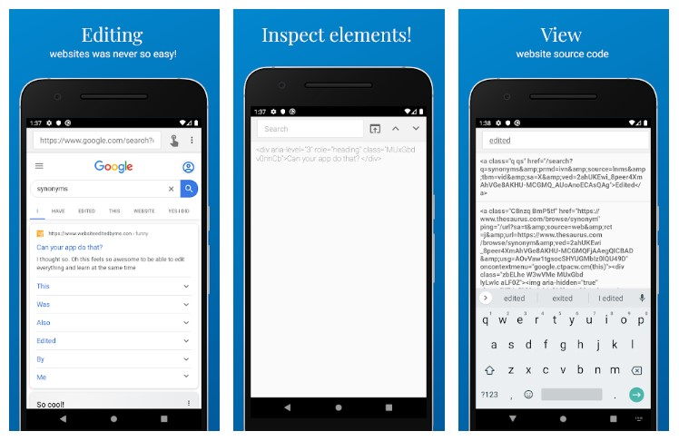 Inspect and Edit HTML Live App