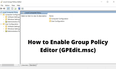 How to Enable Group Policy Editor (GPEdit.msc)