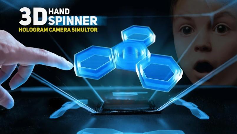 Hand Spinner 3D Hologram Pyramid