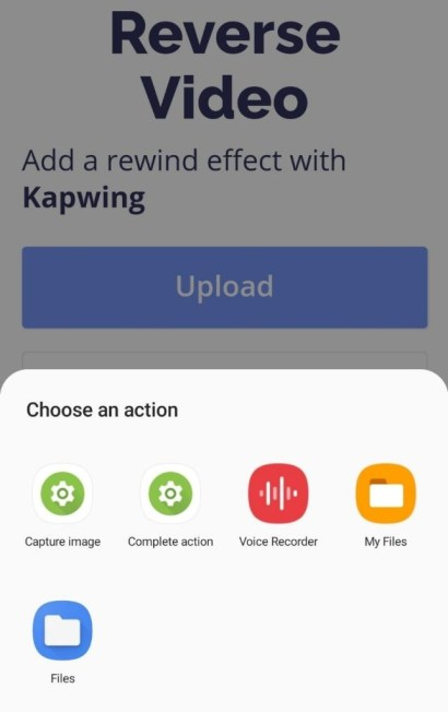 Upload the video you want to apply the effect