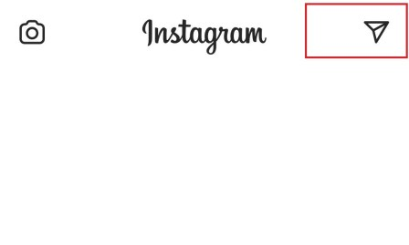 tap the paper plane icon to go to Instagram Direct