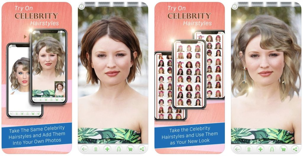 Try On Celebrity Hairstyles